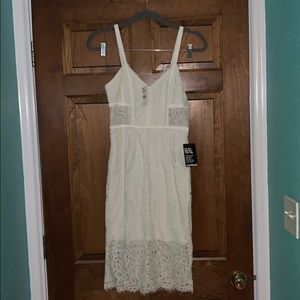 White Express Lace Cocktail Dress